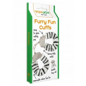 Algemas ToyJoy Zebra Furry Fun Cuffs