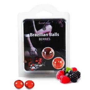 Bolinhas Explosivas Brazilian Balls Frutos Vermelhos 2un