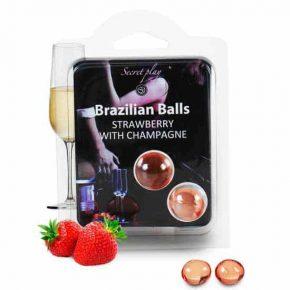 Bolinhas Explosivas Brazilian Balls Morango & Champanhe 2un