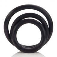 Anéis Penianos Black Rubber Ring Set 3un