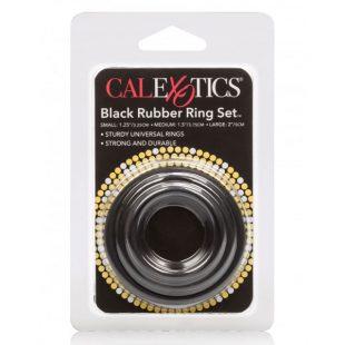 Anéis Penianos Black Rubber Ring Set 3un