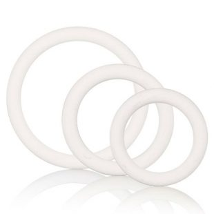 Anéis Penianos White Rubber Ring Set 3un
