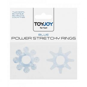 Anéis Power Stretchy Rings Azuis 2un