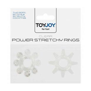 Anéis Power Stretchy Rings Transparentes 2un