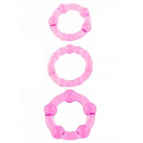 Anéis de Erecção Stay Hard Rosa 3un