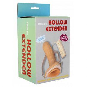 Strap-On Oco com Vibração Hollow Extender
