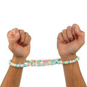 Algemas Comestíveis Candy Love Cuffs