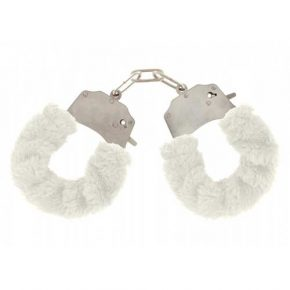 Algemas ToyJoy White Furry Fun Cuffs