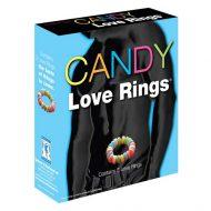 Anéis Penianos Comestíveis Candy Love Rings 3un