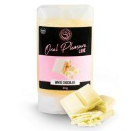 Lubrificante Comestível Oral Pleasure Chocolate Branco 34g