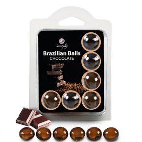Bolinhas Explosivas Brazilian Balls Chocolate 6un