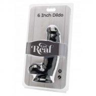 Dildo Realístico Get Real Preto 15cm
