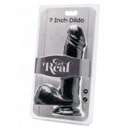 Dildo Realístico Get Real Preto 18cm