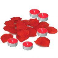 Pétalas de Rosa & Velas Perfumadas Frutos Vermelhos 100un