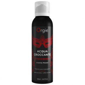 Espuma de Massagem Orgie Acqua Crocante Morango 150ml