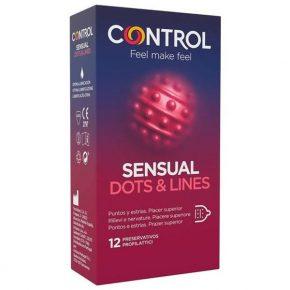 Preservativos Control Sensual Pontos & Estrias 12un