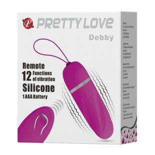 Ovo Vibratório com Comando Pretty Love Debby