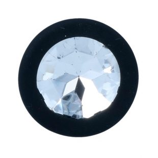 Plug Anal em Silicone Preto com Cristal