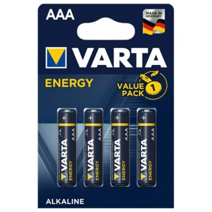 Pilhas AAA Varta Energy 4un
