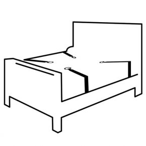 Algemas de Colchão Luxury Bed Restraint Set