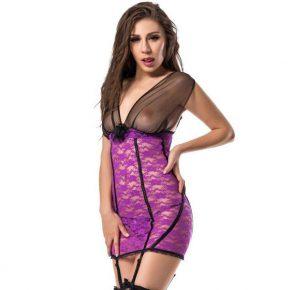 Camisa com Ligueiros Subblime 1170 Rosa & Preta