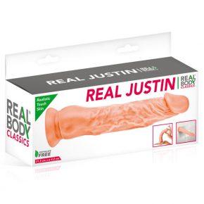Dildo com Ventosa Real Body Justin 21,5cm